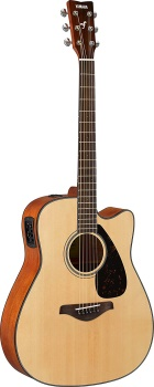 Yamaha - FGX800C Solid Top Cutaway Acoustic/Electric Guitar