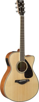 Yamaha - FSX820C Small Body Solid Top Cutaway Acoustic/Electric Guitar