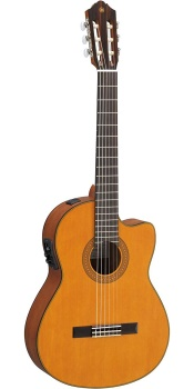 Yamaha - CGX122MCC Nylon-String Cutaway Classical Acoustic/Electric Guitar