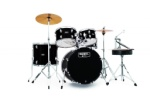 "Mapex - RB5044FTCDK Rebel 5-Piece 20"" Drum Set with Hardware and Cymbals"