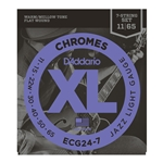 D'Addario - Chromes Flat Wound Electric Guitar Strings, Jazz Light, 11-50