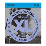 D'Addario - EXL116 Nickel Wound Electric Guitar Strings, Medium Top/Heavy Bottom, 11-52