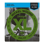 D'Addario - EXL117 Nickel Wound Electric Guitar Strings, Medium Top/Extra-Heavy Bottom, 11-56