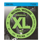 D'Addario - EXL165 Nickel Wound Bass Guitar Strings, Custom Light, 45-105, Long Scale