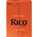 Rico - Bass Clarinet Reeds, Strength 3.5, 10-pack