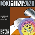 Thomastik - Dominant 135b BONUS Set Synthetic Core 4/4 Violin Strings With Free Tin E