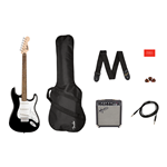 Fender - Stratocaster® Pack, Laurel Fingerboard, Black, Gig Bag, 10G - 120V