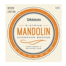 D'Addario - EJ74 Mandolin, Phosphor Bronze, Medium, 11-40