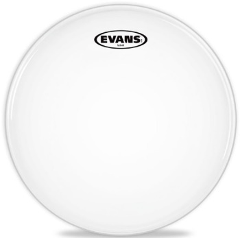 "Evans - 13"" Hybrid White Marching Snare Drum Head"