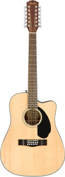 Fender - Classic Design Series CD-60SCE-12 Cutaway Dreadnought 12-String Acoustic/Electric Guitar