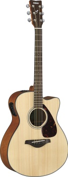 Yamaha - FSX800C Small Body Solid Top Cutaway Acoustic/Electric Guitar
